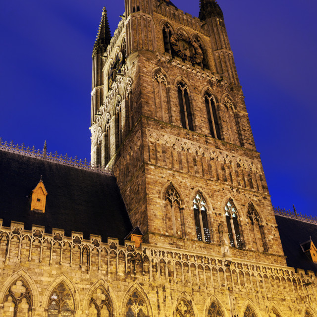 """""""Cloth Hall and Belfry in Ypres"""" stock image"""