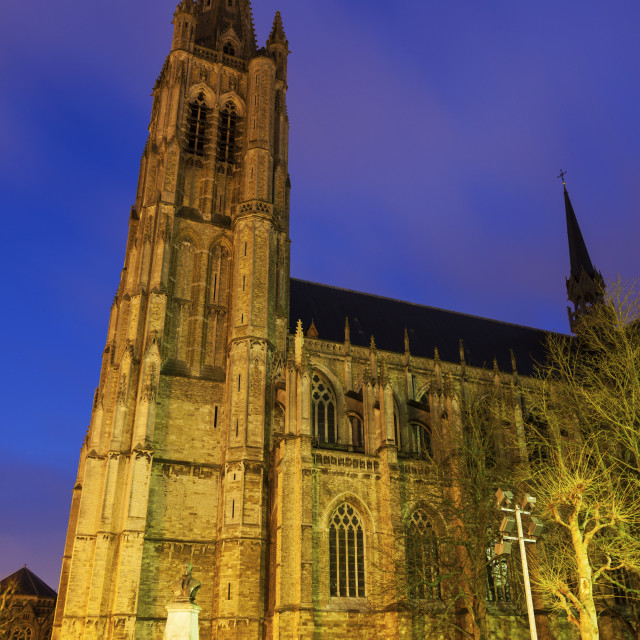 """""""Saint Martin's Church in Ypres"""" stock image"""