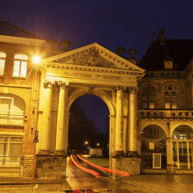 """""""Arch in Ypres"""" stock image"""
