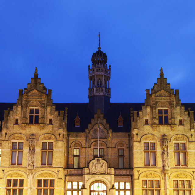 """Grote Markt architecture in Ypres"" stock image"