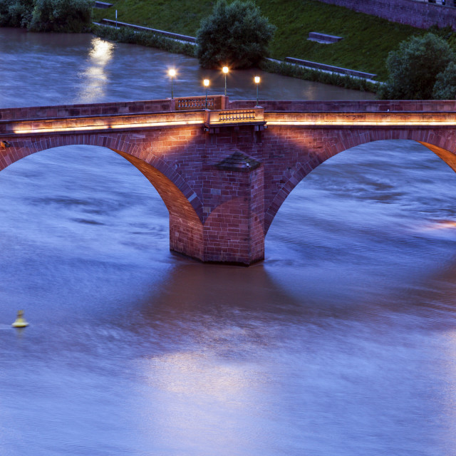 """Karl Theodor Bridge in Heidelberg"" stock image"
