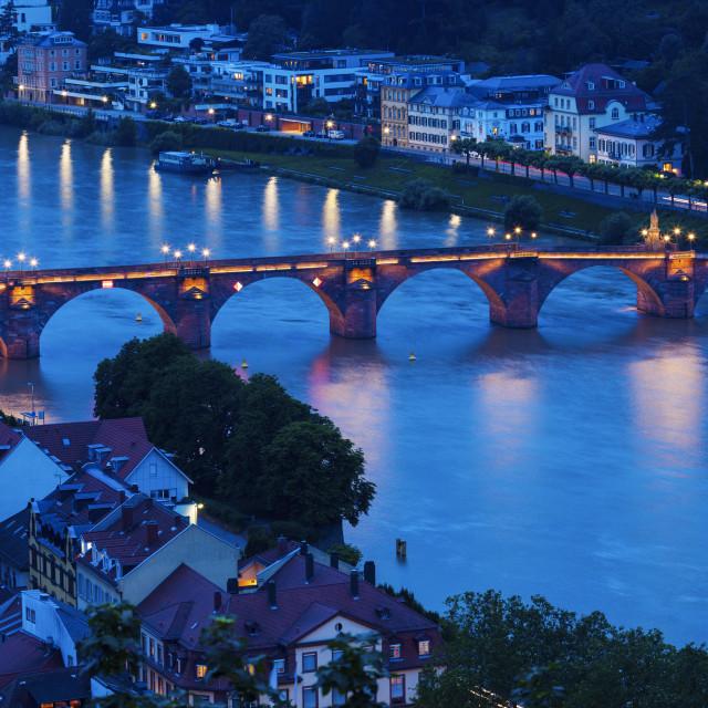"""Karl Theodor Bridge in Heidelberg"" stock image"