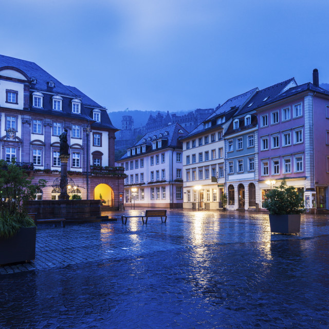 """Rainy morning in Heidelberg"" stock image"