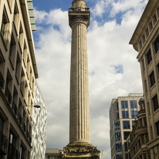 """London Monument To The Great Fire Of London"" stock image"