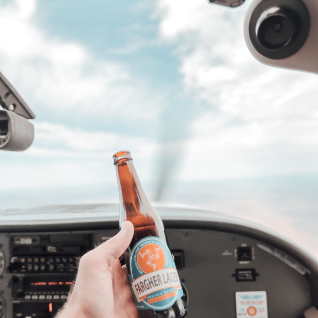 """private jet beers"" stock image"