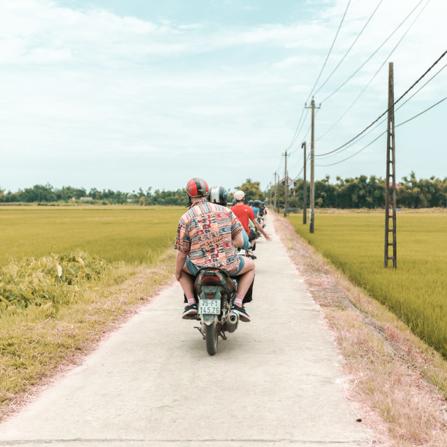 """bike rides in nam"" stock image"