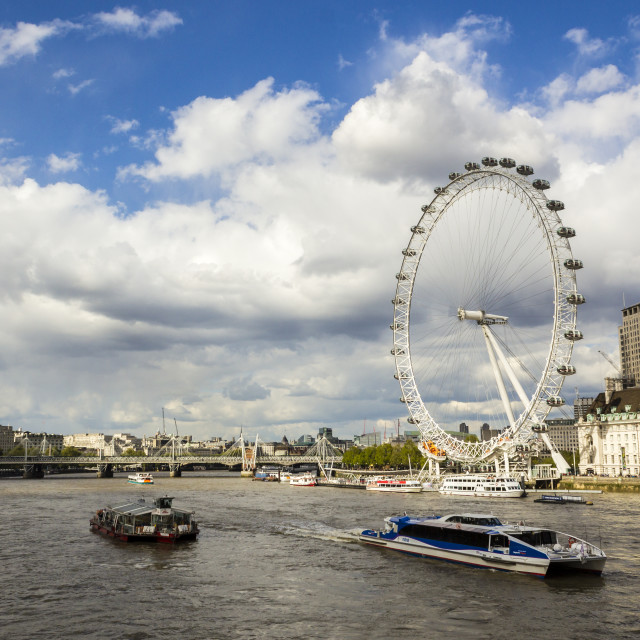 """London Eye and River Thames"" stock image"