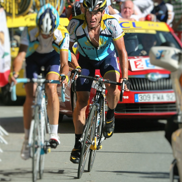 """Lance Armstrong - Verbier 2009"" stock image"