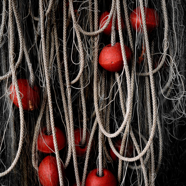 """""""Red Floats And Ropes"""" stock image"""