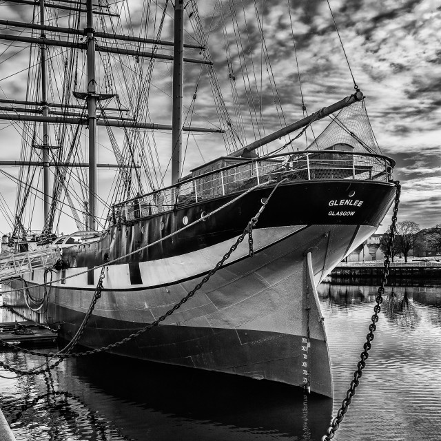 """Glenlee at The Riveside"" stock image"