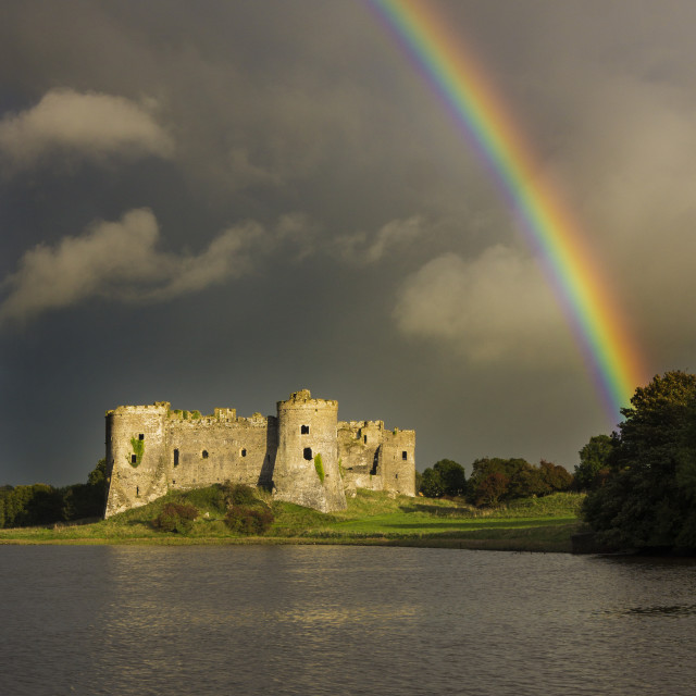 """Castle rainbow"" stock image"