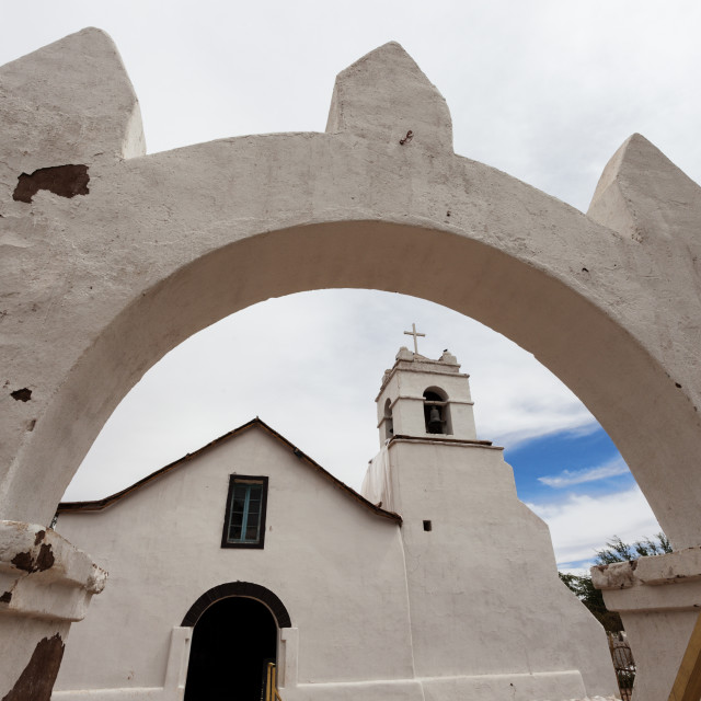 """Church of San Pedro de Atacama"" stock image"