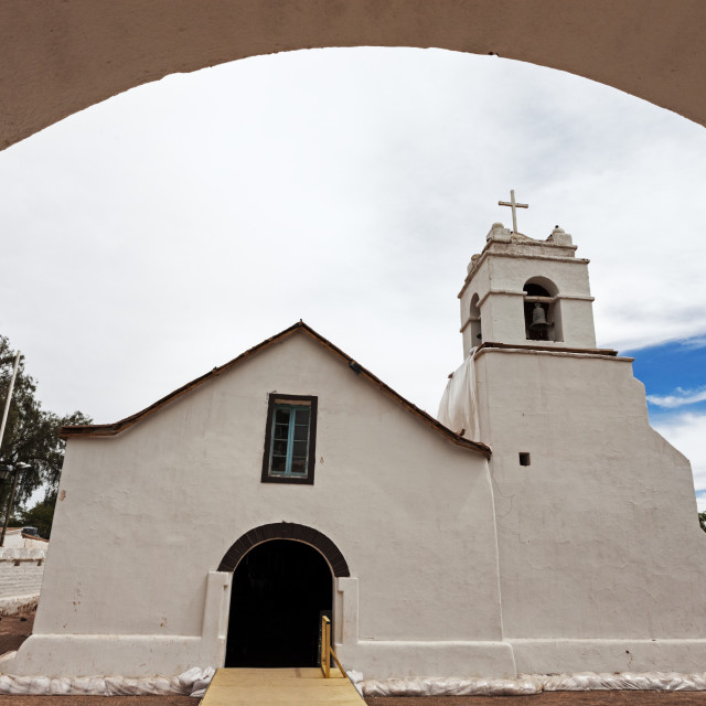 """Church of San Pedro de Atacama, San Pedro de Atacama, Chile."" stock image"