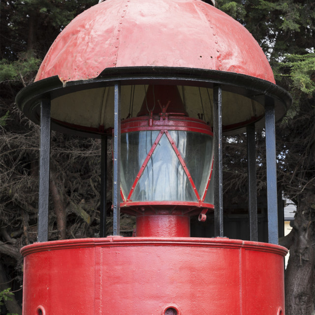 """""""Red lighthouse in Puerto Montt"""" stock image"""