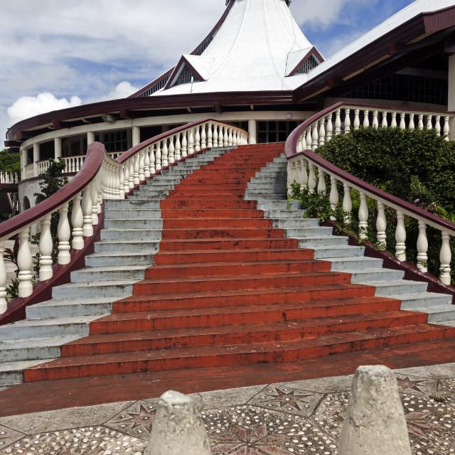 """""""Church in downtown of Nuku'Alofa"""" stock image"""