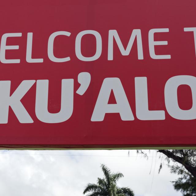"""Welcome to Nuku'alofa"" stock image"