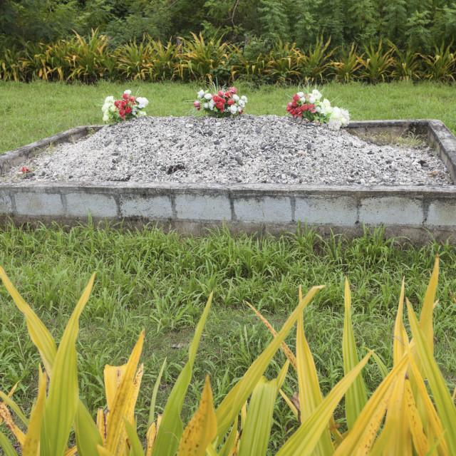 """Tongan grave"" stock image"