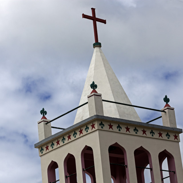 """Church tower - Tongatapu Island"" stock image"