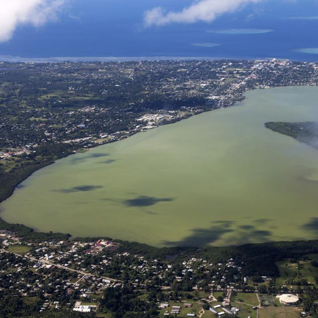 """Aerial Nuku'alofa"" stock image"