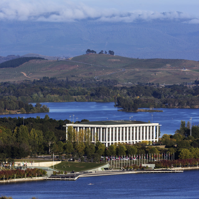 """""""National Library of Australia - Canberra"""" stock image"""