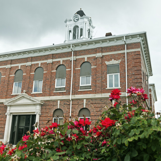 """Old courthouse in Marshall, Clark County"" stock image"