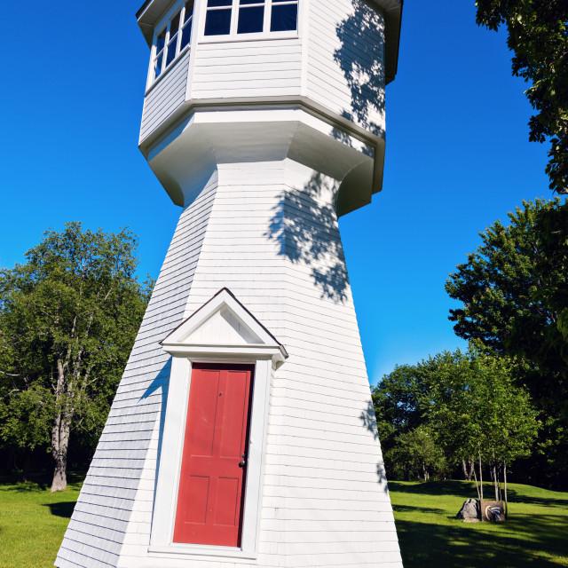 """""""Cole Shoal Range Rear Lighthouse"""" stock image"""