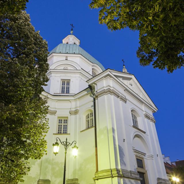 """""""St. Kazimierz Church - Warsaw, Poland"""" stock image"""