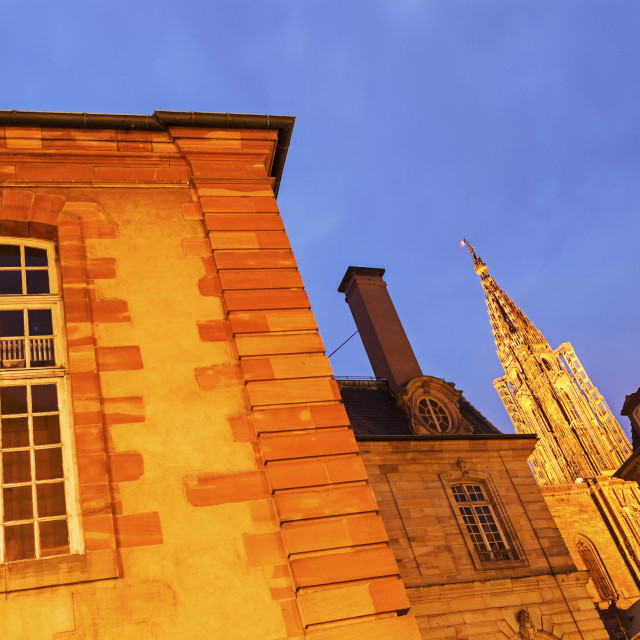 """""""Old Town architecture with Strasbourg Minster"""" stock image"""