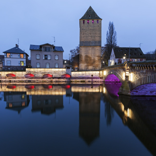 """Ponts Couverts in Petite-France"" stock image"