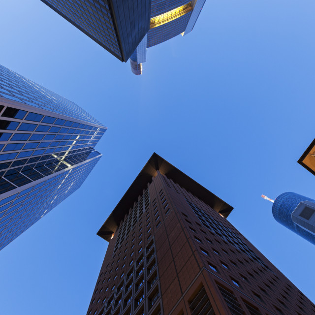 """""""Modern architecture of downtown of Frankfurt"""" stock image"""