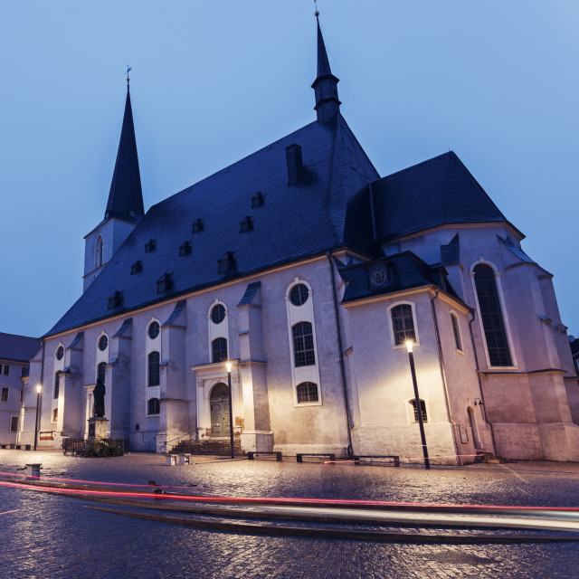 """""""Church St. Peter and Paul in Weimar"""" stock image"""