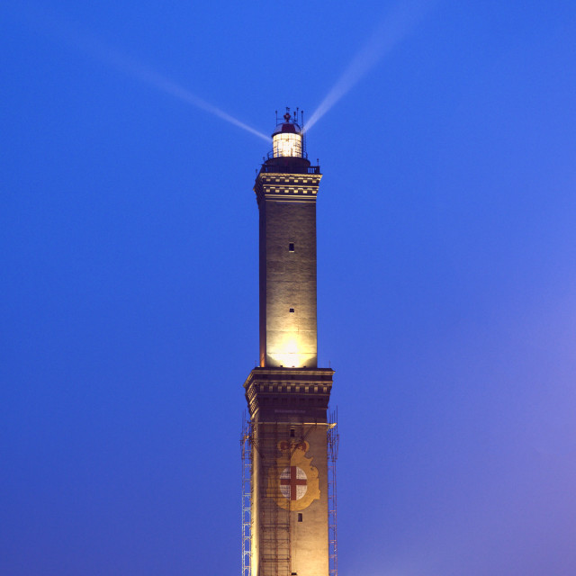 """Lighthouse of Genoa"" stock image"