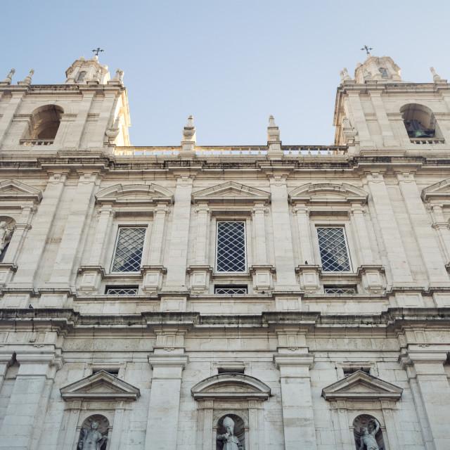 """""""Sao Vicente de Fora Monastery in Lisbon"""" stock image"""
