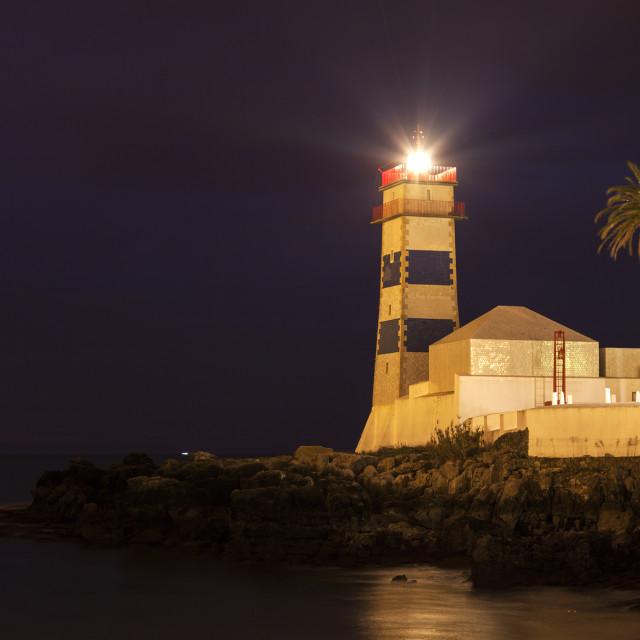 """Santa Marta Lighthouse in Cascais"" stock image"