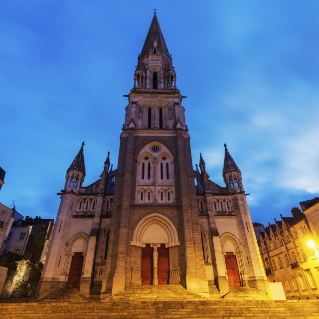 """St Nicholas Church in Nantes"" stock image"