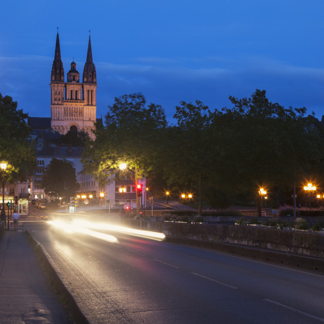 """""""Angers Cathedral"""" stock image"""