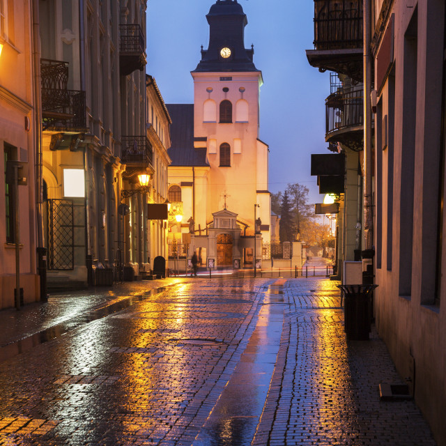 """St. Bernardine Church in Piotrkow Trybunalski"" stock image"