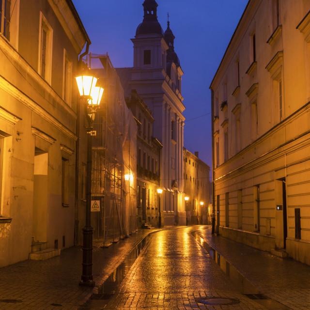 """Evangelic Church in Piotrkow Trybunalski"" stock image"