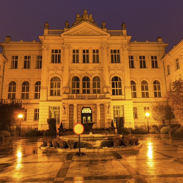 """""""Old courthouse in Piotrkow Trybunalski"""" stock image"""