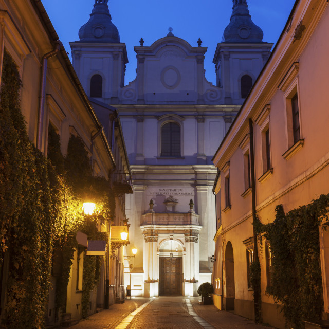 """St. Francis Xavery Church in Piotrkow"" stock image"