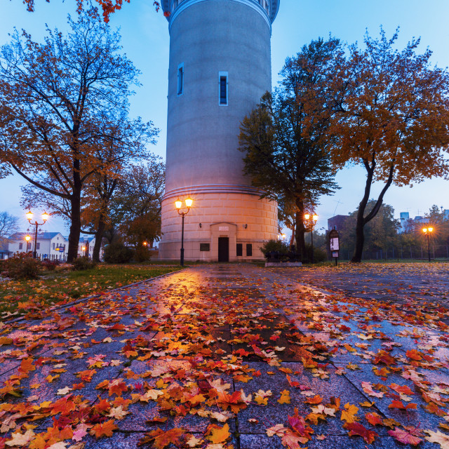 """""""Old water tower in Piotrkow"""" stock image"""