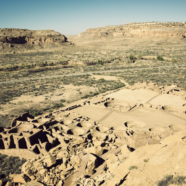 """Ruins in Chaco Culture"" stock image"
