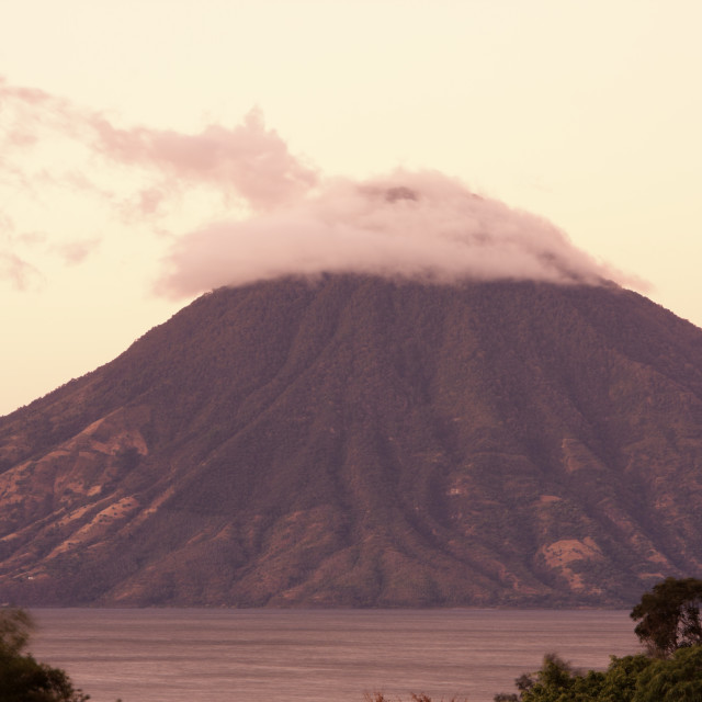 """""""Volcano by Lago de Atitlán"""" stock image"""
