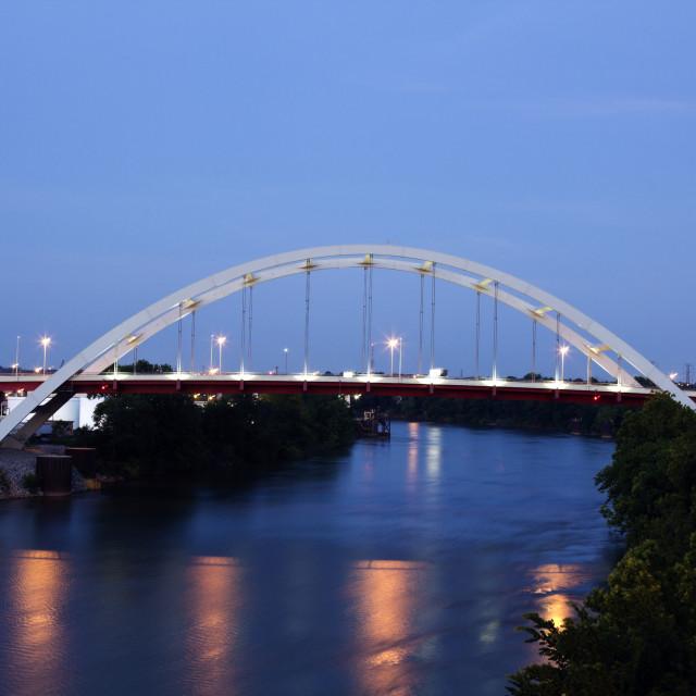 """""""Bridge in Nashville"""" stock image"""
