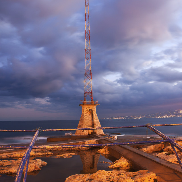"""Beirut Corniche"" stock image"
