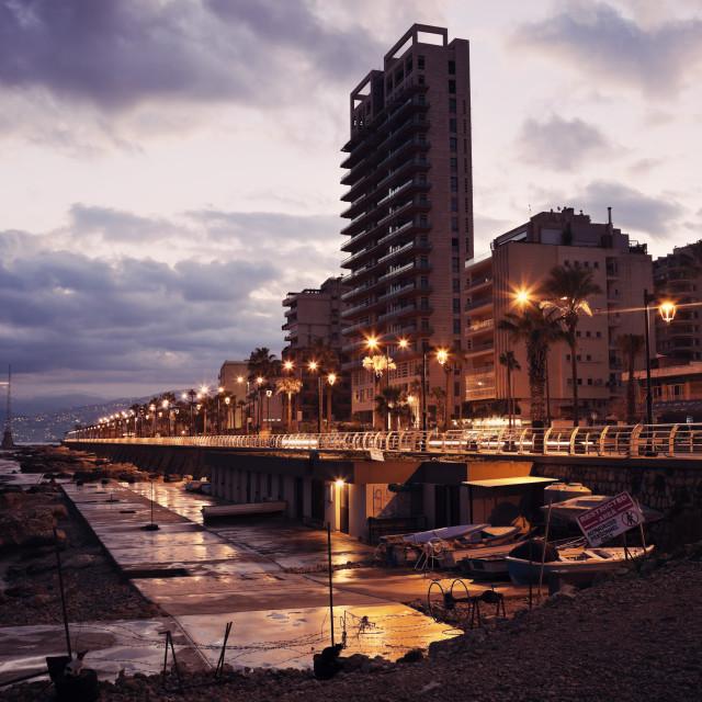 """Corniche Beirut"" stock image"