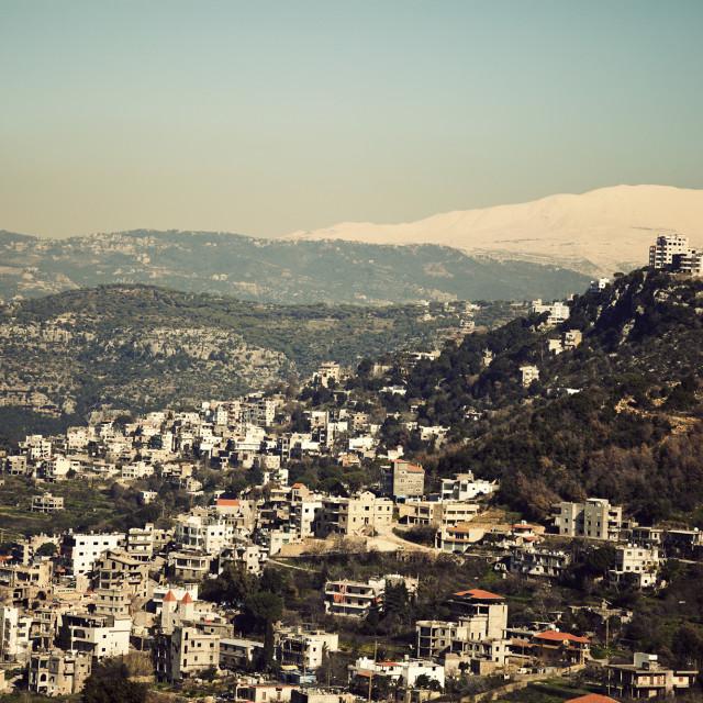 """Suburbs of Beirut"" stock image"