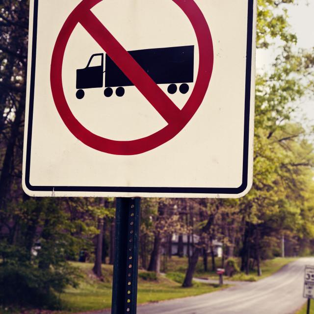 """Semi trucks not allowed"" stock image"