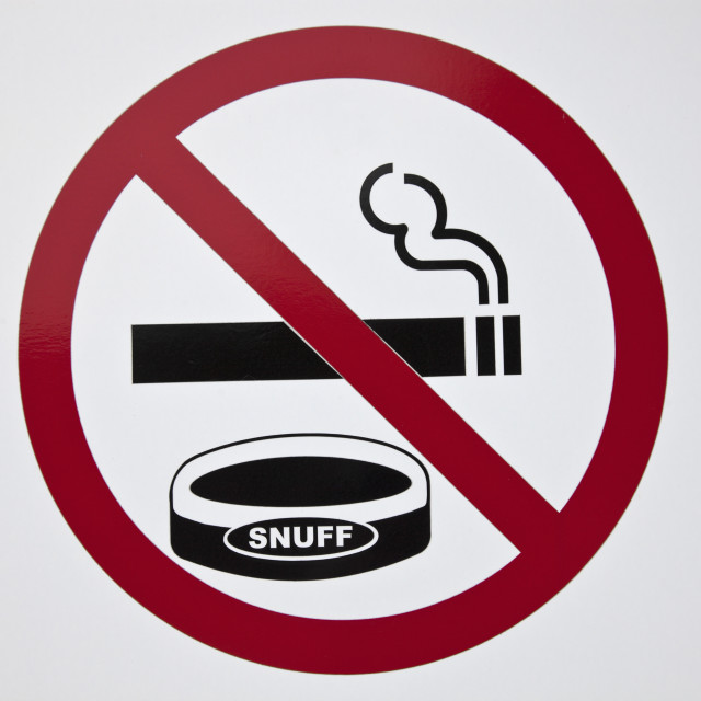 """No smoking and snuffing"" stock image"