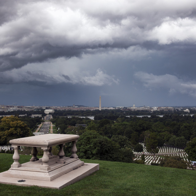 """Heavy clouds over Washington"" stock image"